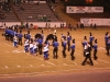 The marching band lining up