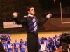 Drum Major Ben conducting a stand tune