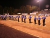 Marching band finishing the field performance